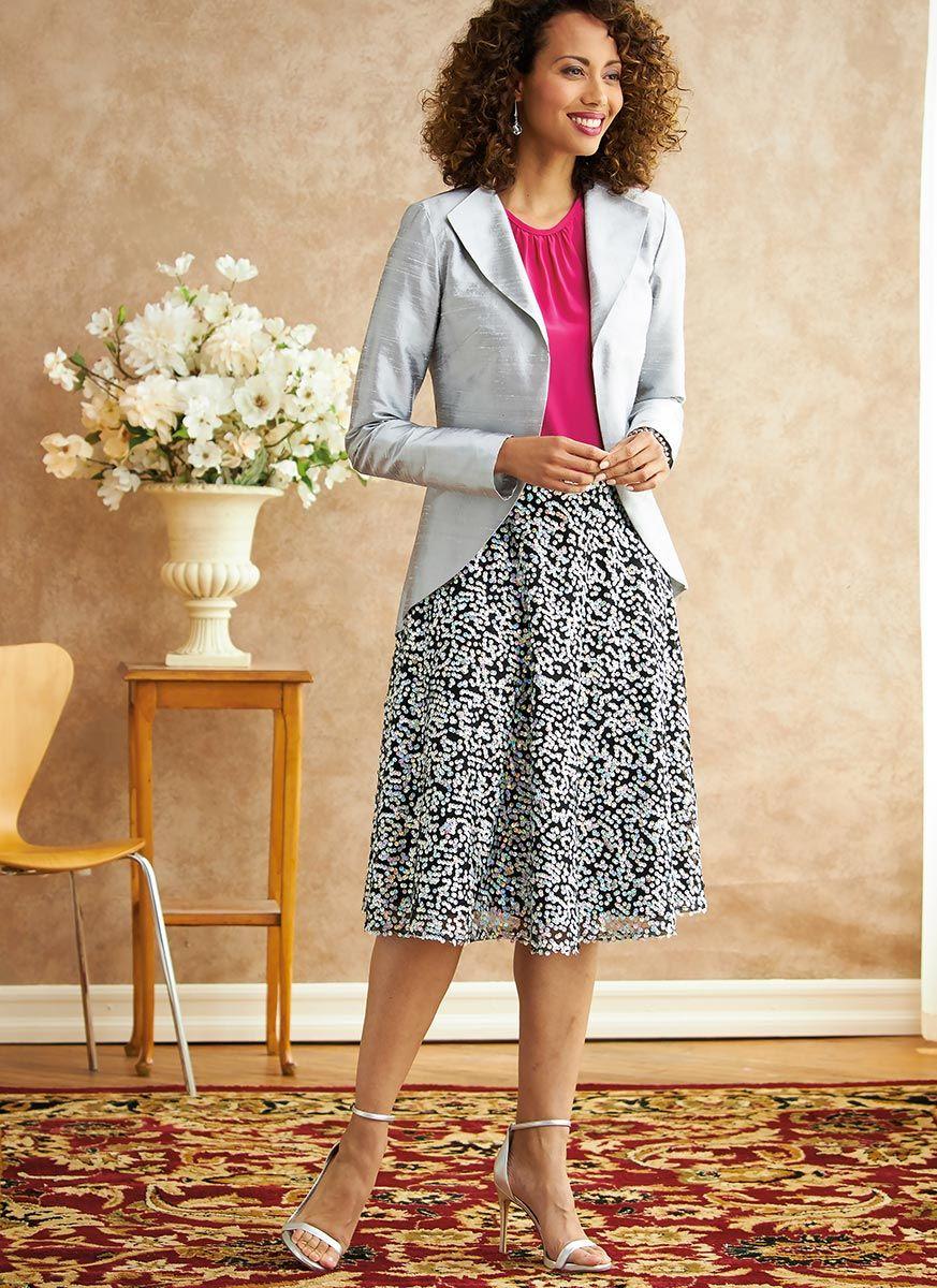 Patron de veste, robe, haut, jupe et pantalon - Butterick 6718