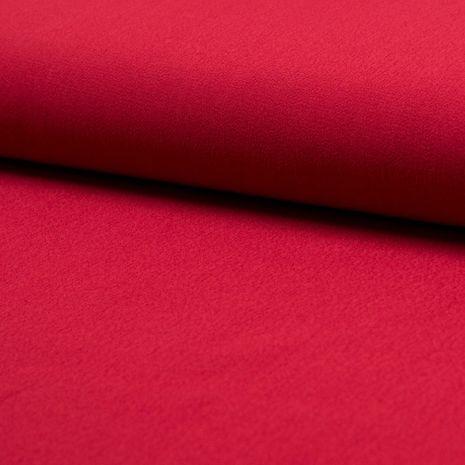 Tissu crêpe de viscose - Rouge