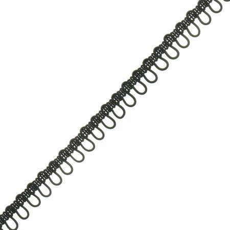 Galon boutonnière élastique - Noir