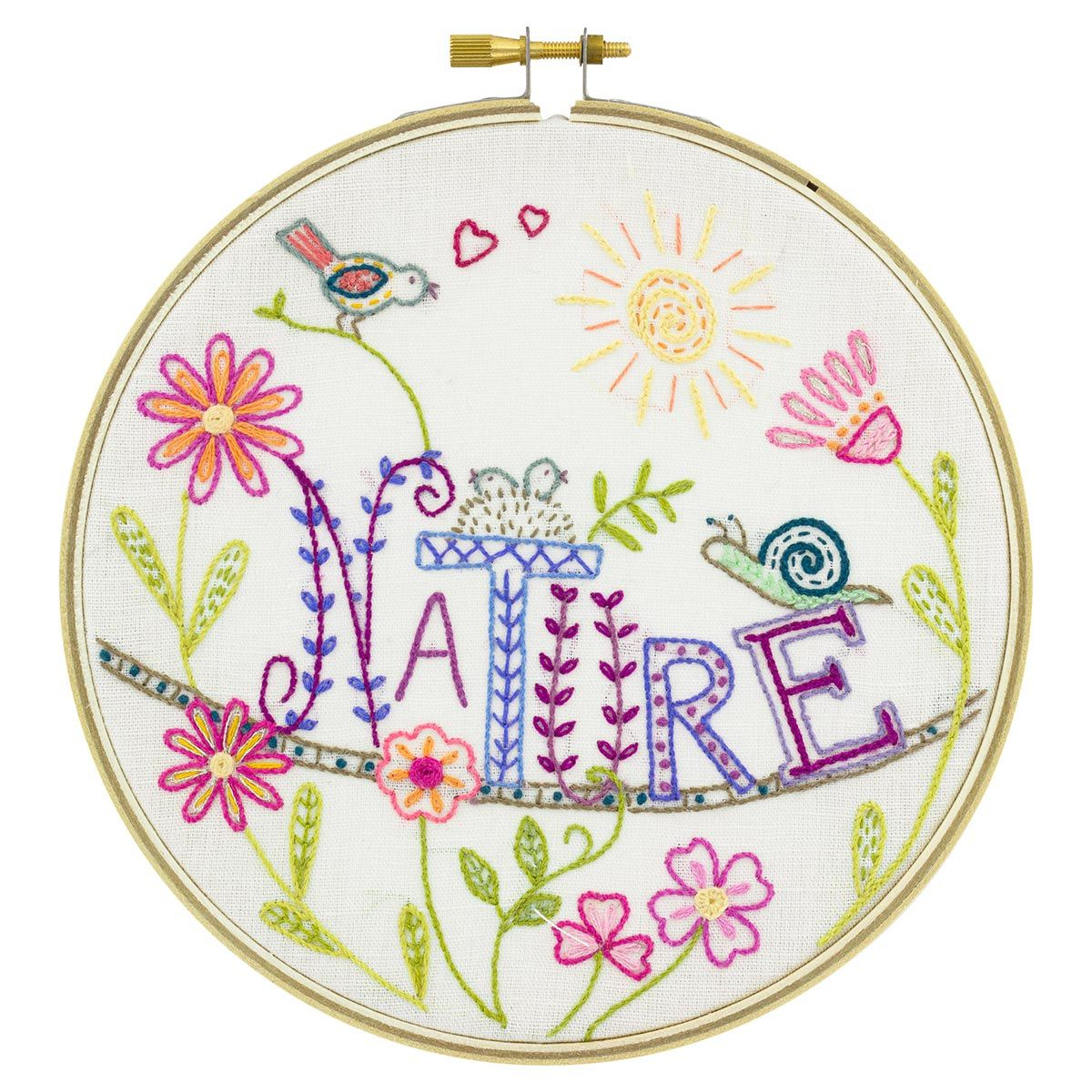 Coffret kit à broder - Vive la nature !