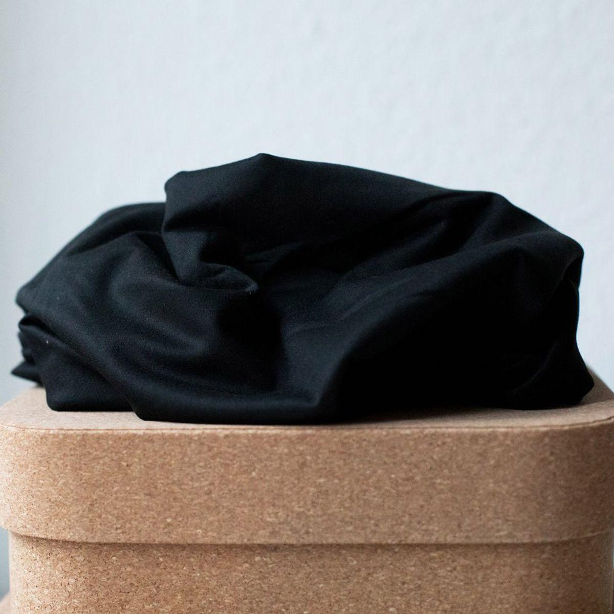 Tissu tencel stretch jersey - Noir