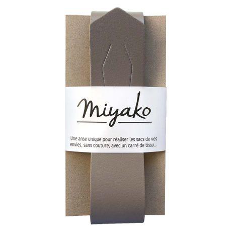 Anse en cuir Miyako - Taupe
