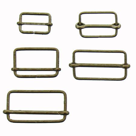 Boucle coulissante métal - Bronze