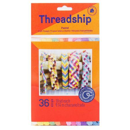 Pack de 36 échevettes monobrin - Couleurs pastel