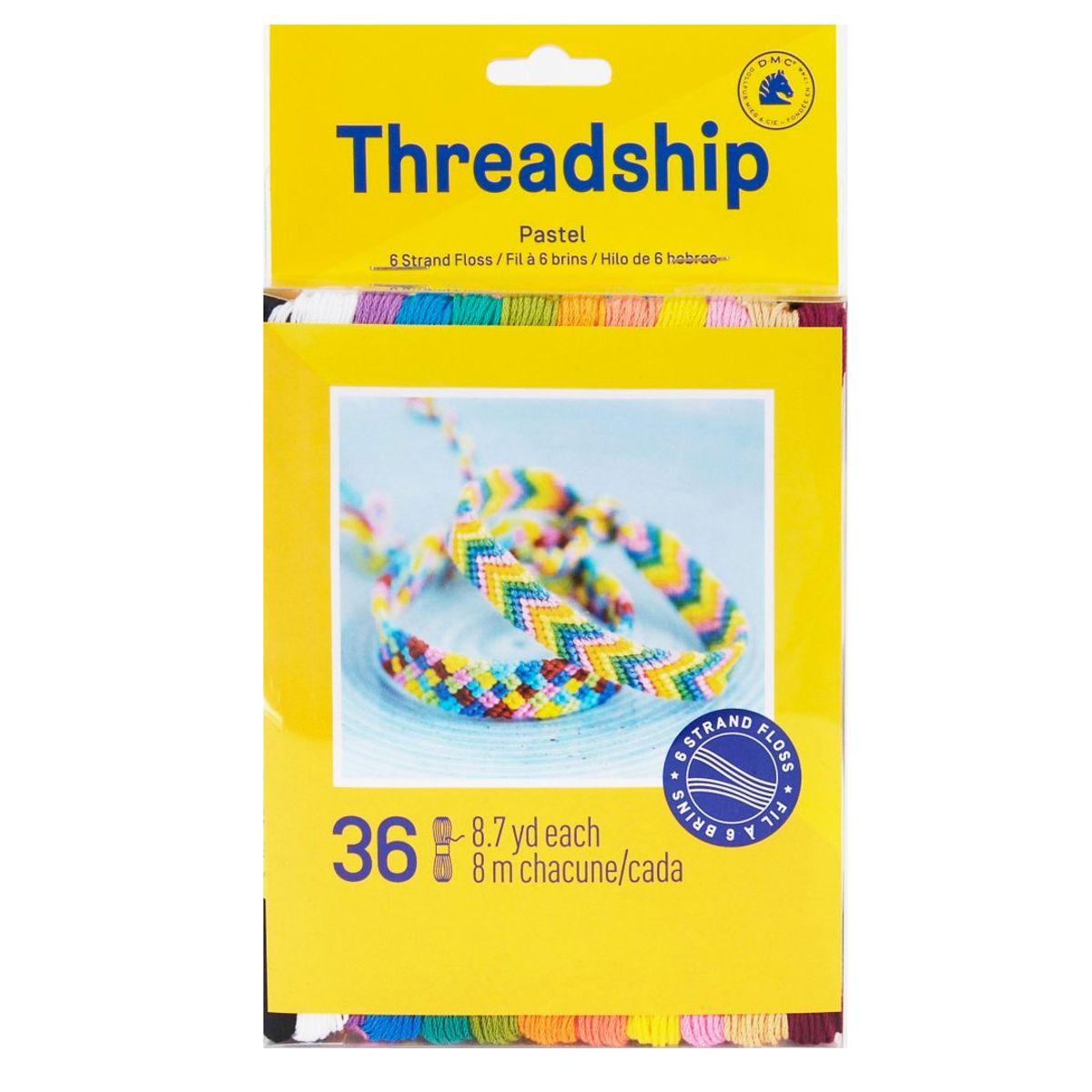 Pack de 36 échevettes 6 brins - Couleurs pastel
