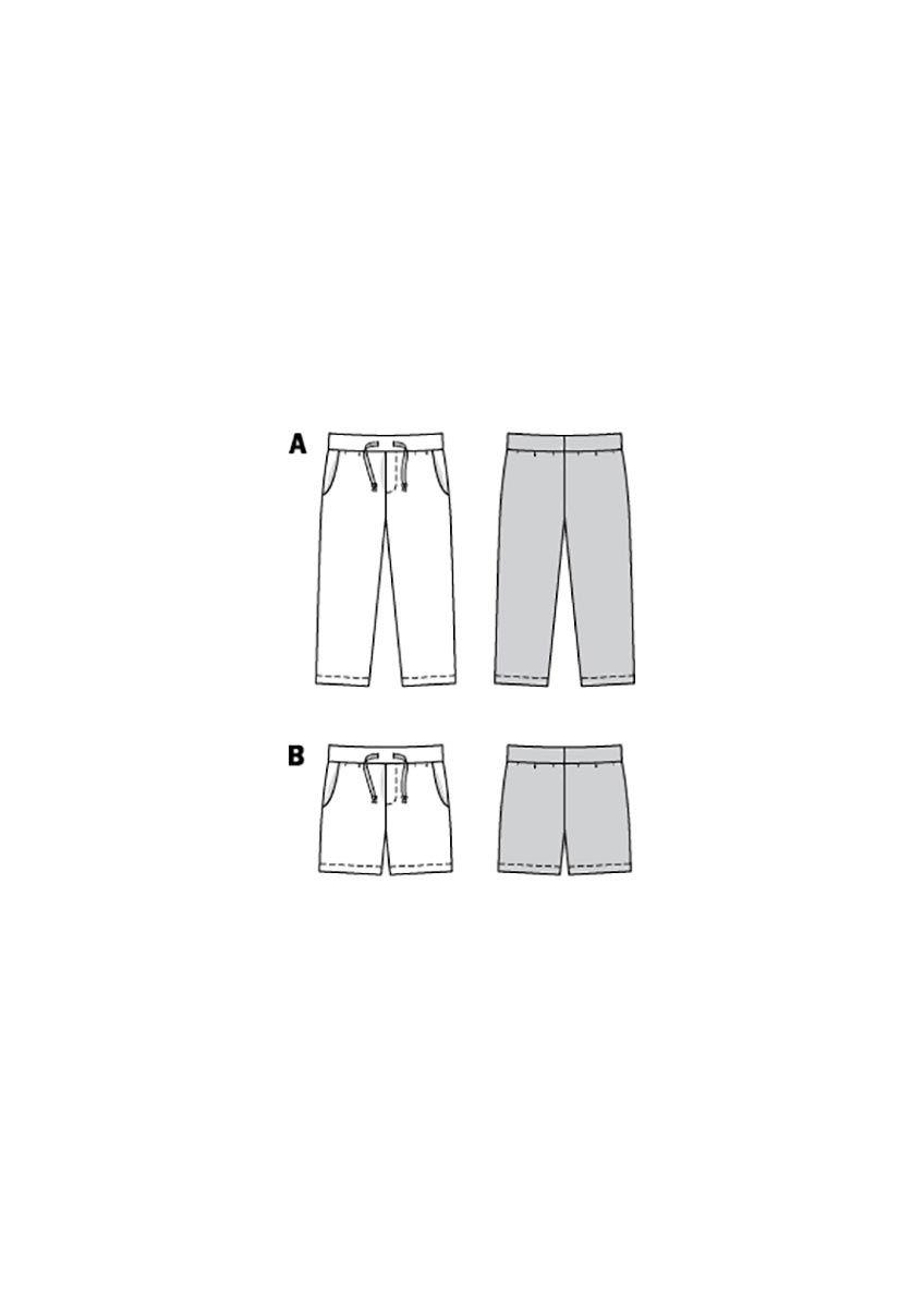 Patron de pantalon et short - Burda 9292