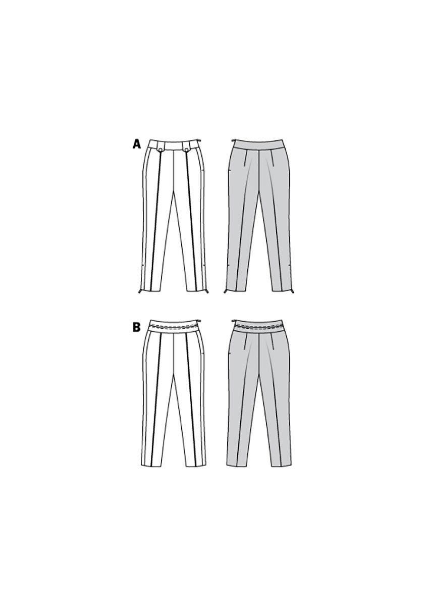Patron de pantalon - Burda 6158