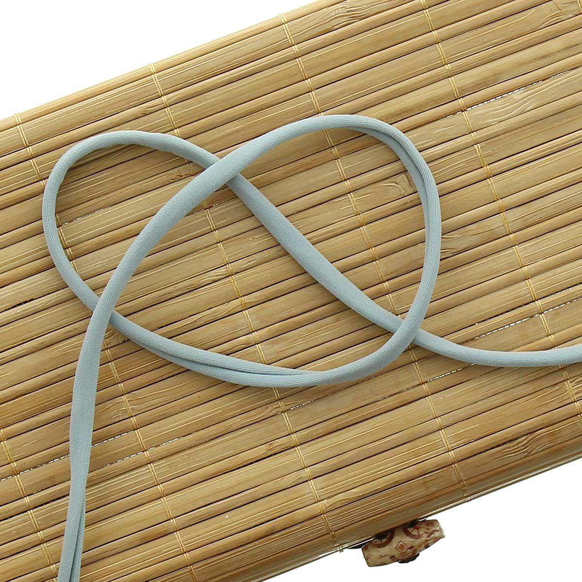 Cordon spaghetti lycra 5 mm - Gris