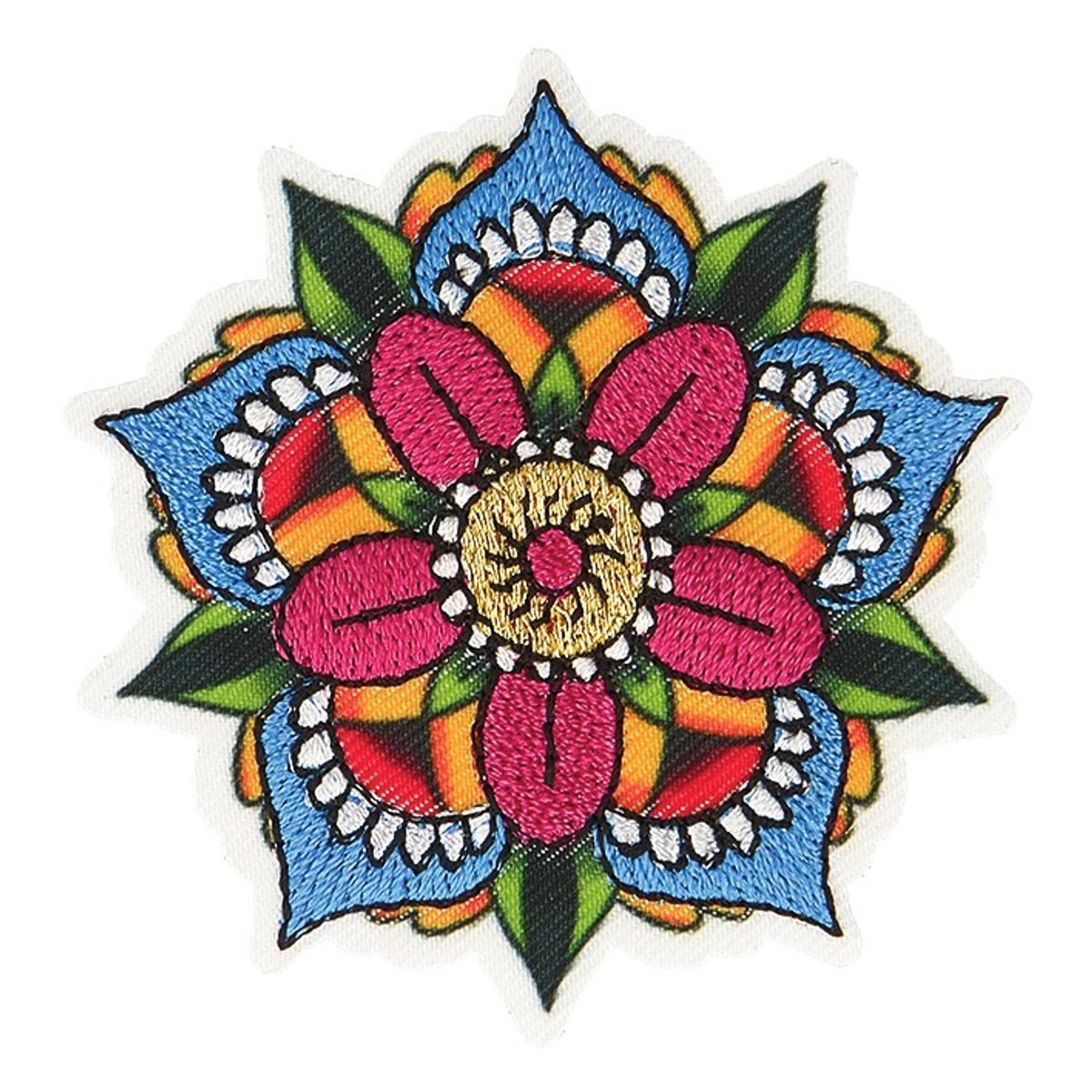 Motif fleur mandala