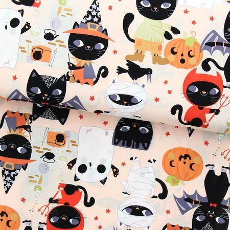 Tissu coton Alexander Henry - Costume kitty - Rose clair
