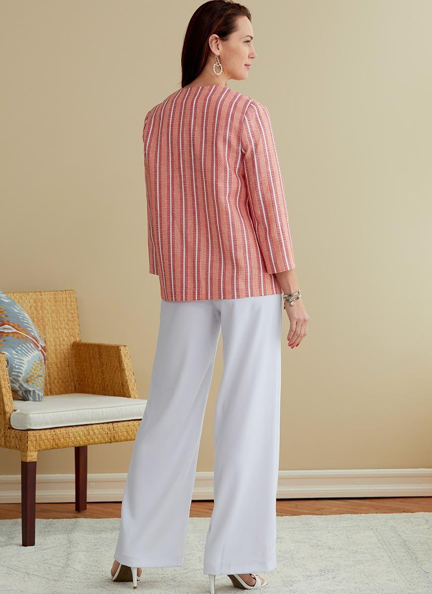 Patron de veste, ceinture, écharpe, robe et combinaison - Butterick 6775