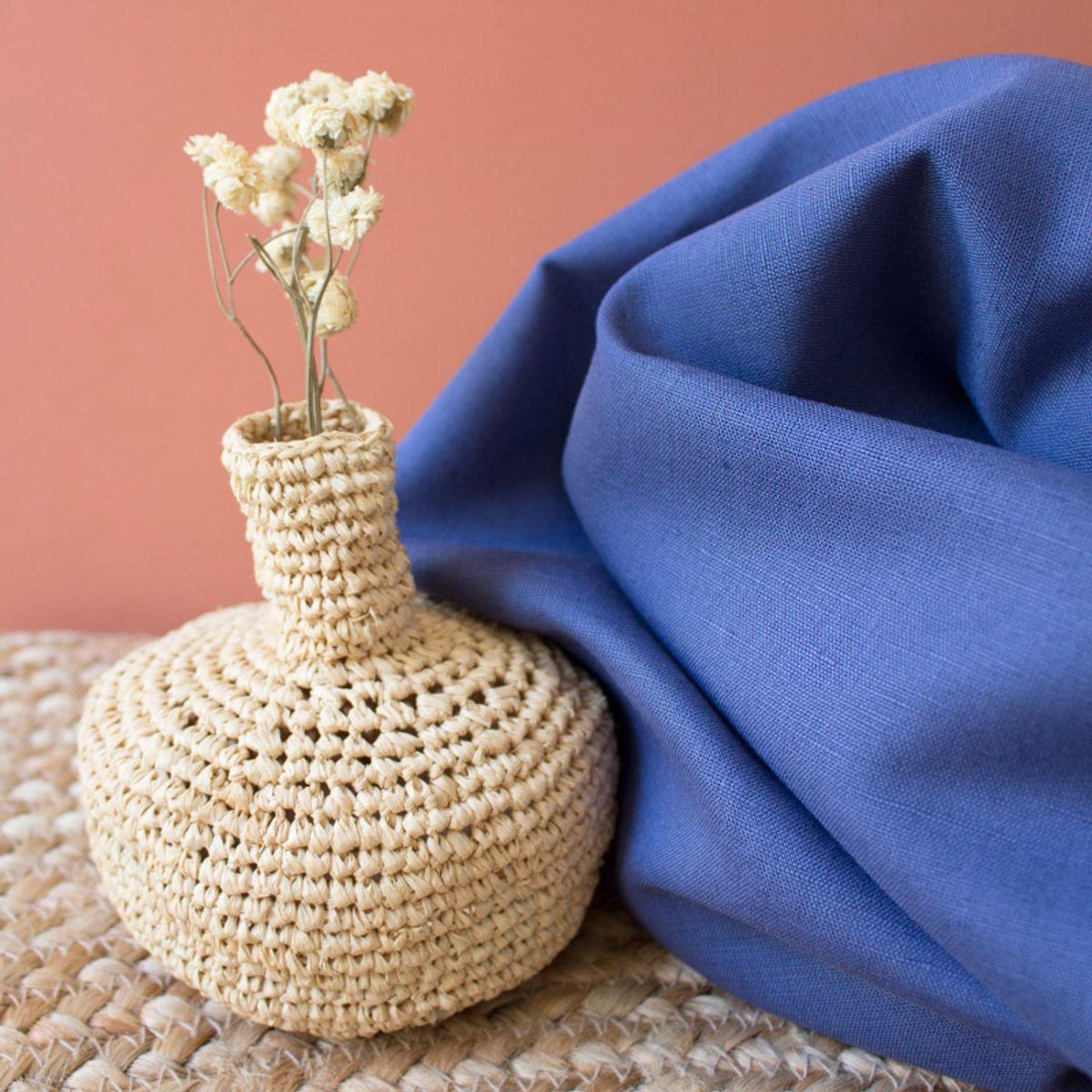 Tissu linen Cobalt - Atelier Brunette