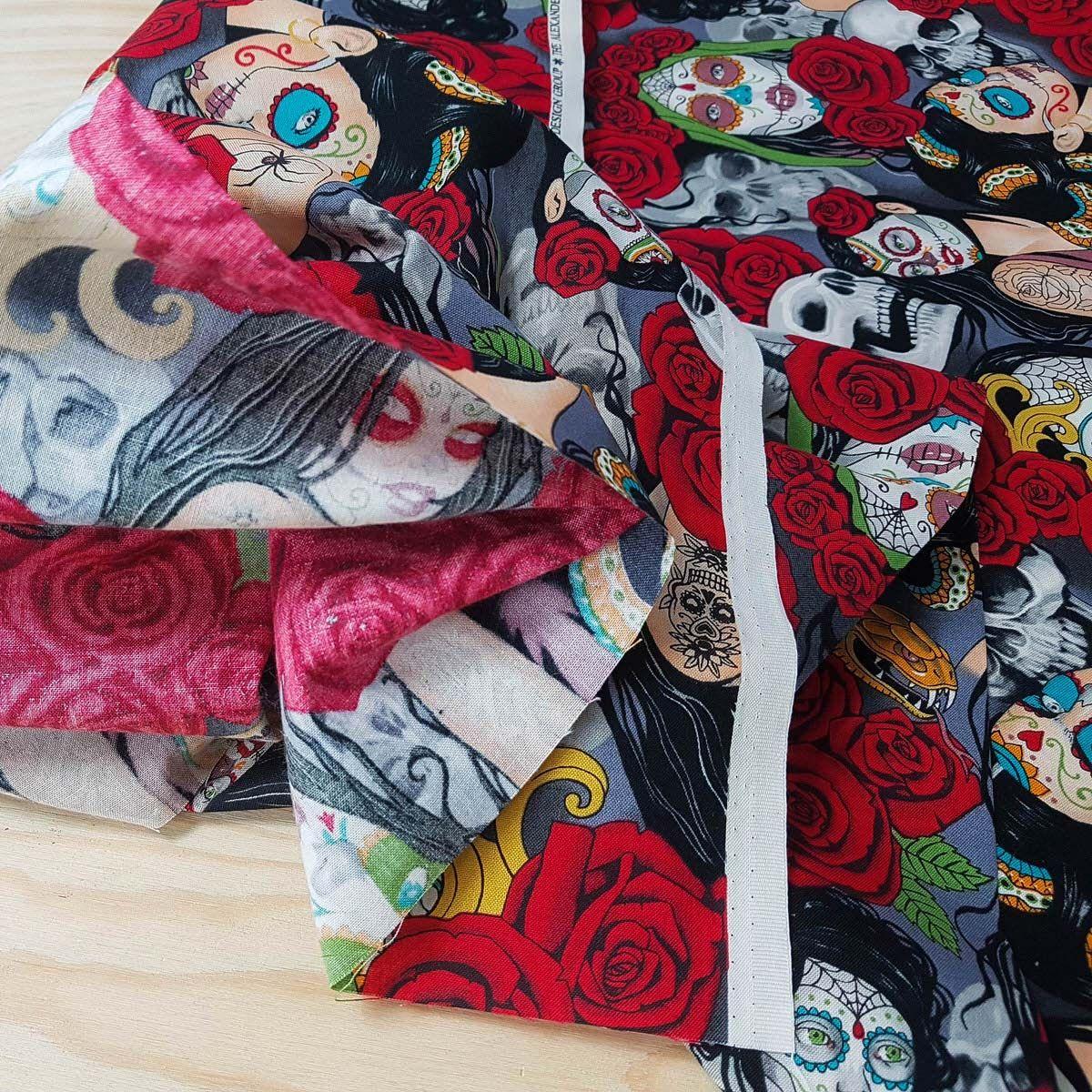 Tissu coton Alexander Henry - Night multicolore