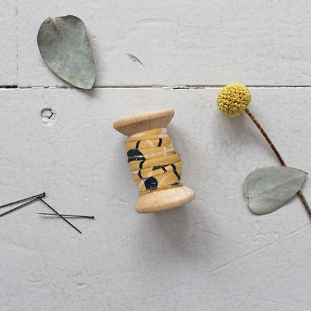 Passepoil viscose Windy Mustard au mètre - Atelier Brunette