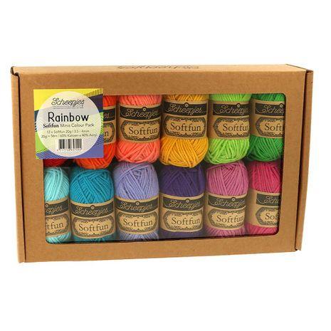 Coffret de 12 mini pelotes Scheejes Soft Fun - Rainbow