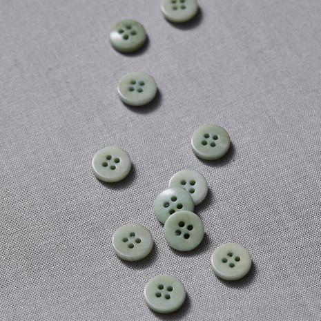 Bouton corozo plat - Vert menthe