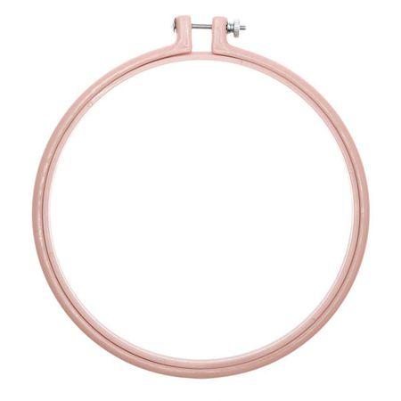 Cercle à broder plastique coloré