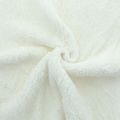 Tissu sherpa - Blanc naturel