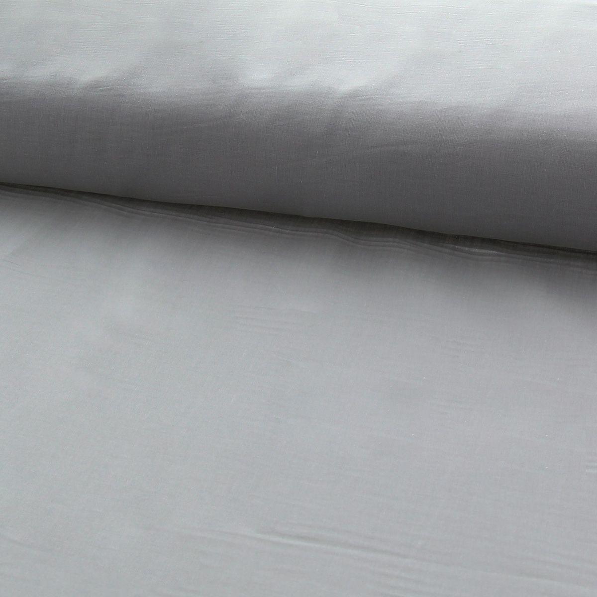 Tissu voile de coton - Gris