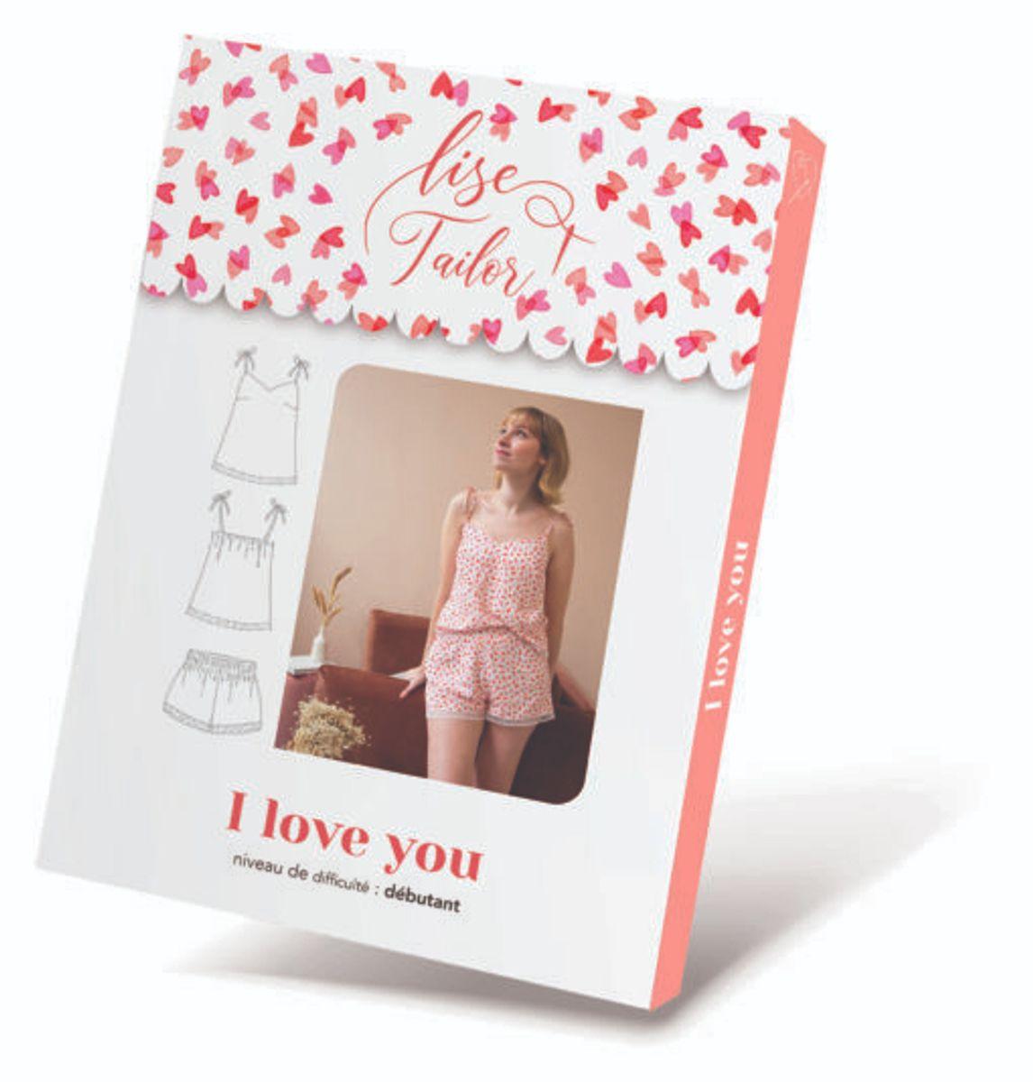 Patron de lingerie caraco et shorty - I love you - Lise Tailor