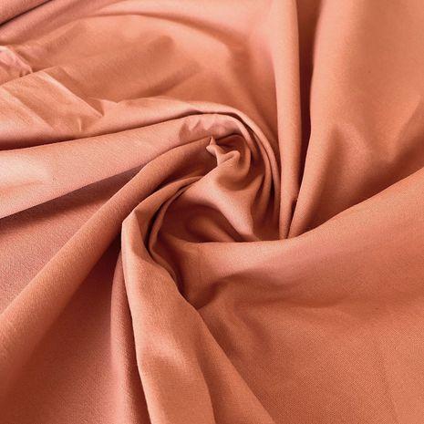 Tissu popeline de coton BIO teinture végétale - Pomo orange