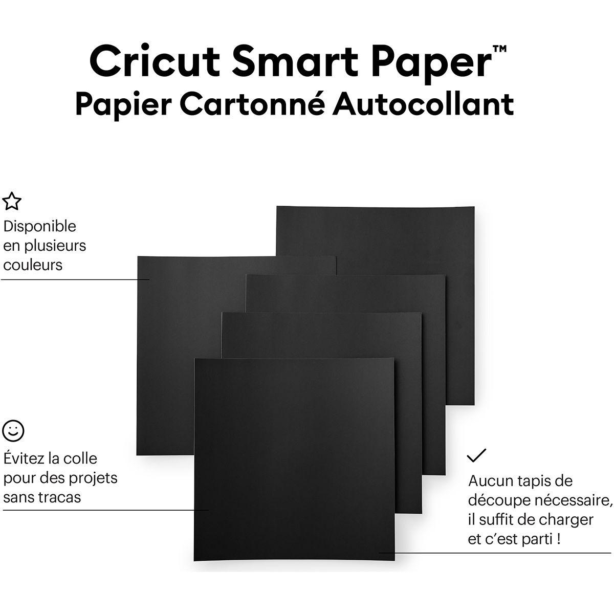 Papier cartonné autocollant Cricut Smart Paper - Noir