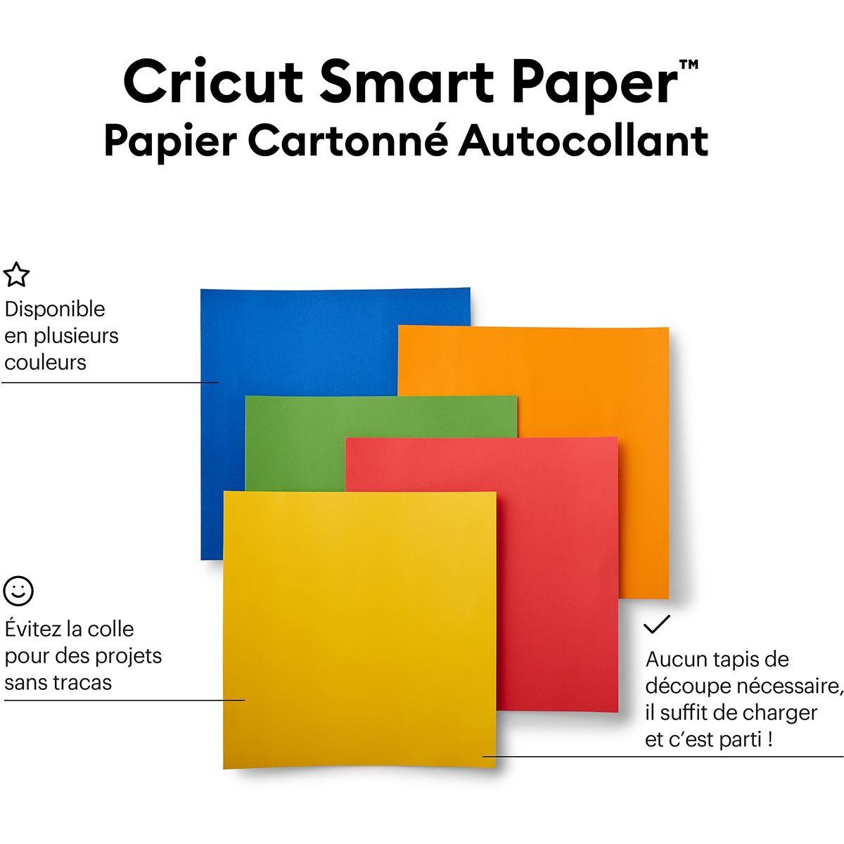 Papier cartonné autocollant Cricut Smart Paper - Coloré