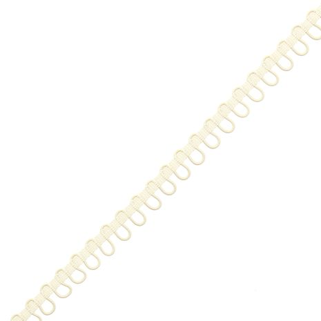 Galon boutonnière élastique - Ecru