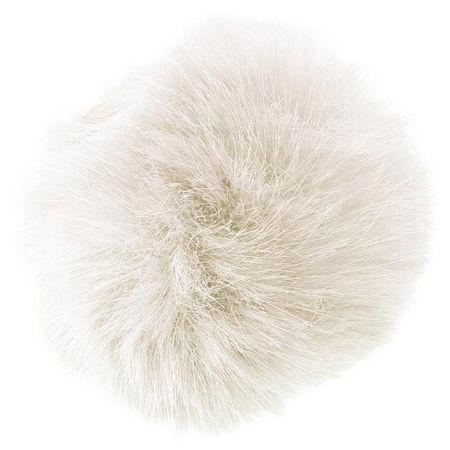Pompon imitation fourrure 10 cm - Nature