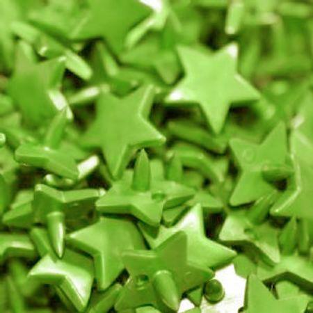 Sachet de 25 pressions résine étoiles - Vert pomme