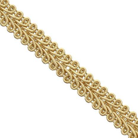 Galon épi style Chanel - Beige doré