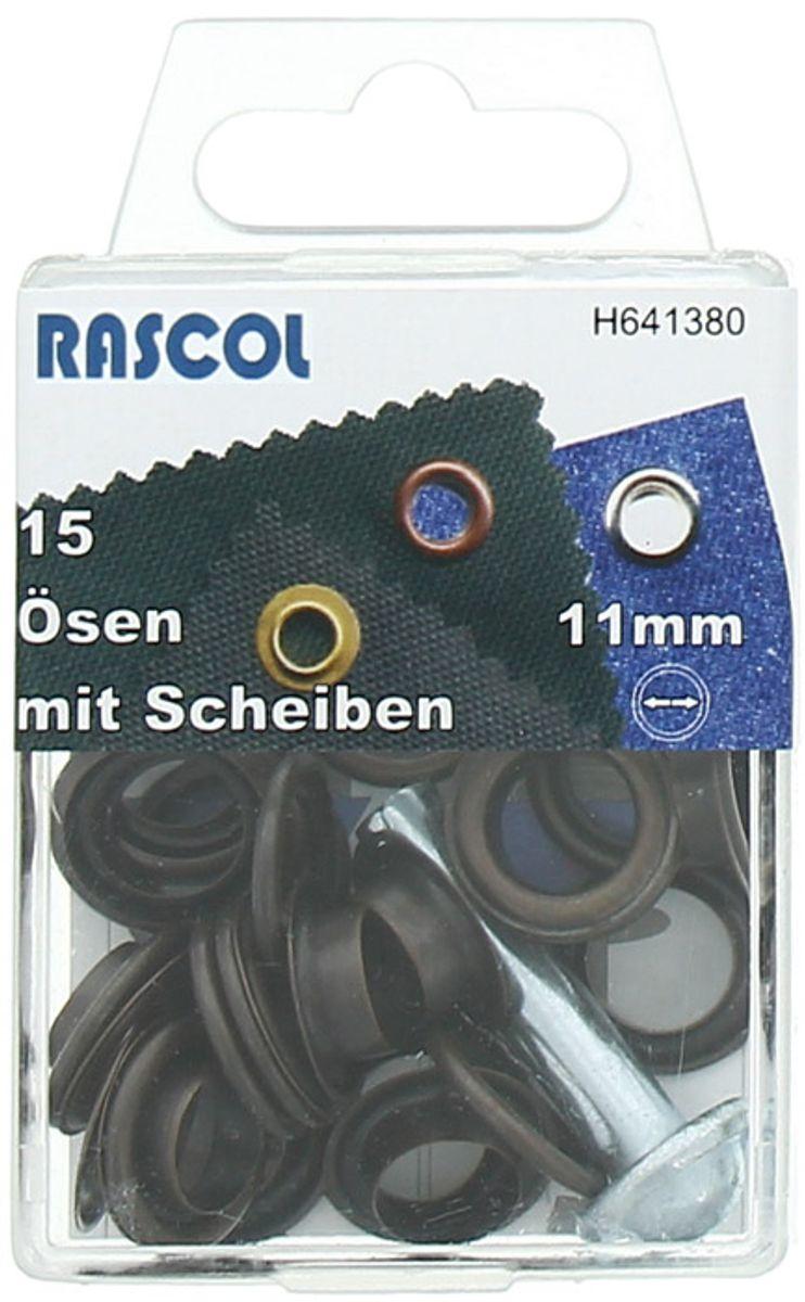 Boite 15 oeillets 11 mm avec outil de pose Rascol - Cuivre