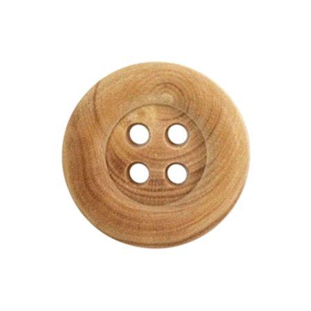 Tube de 6 boutons en bois 4 trous - 18 mm