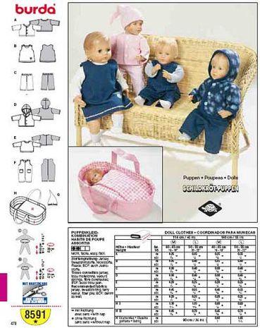 Patron Habits de poupées - Burda 8591