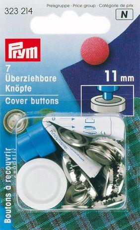 Boite 7 boutons à recouvrir avec outil 11 mm