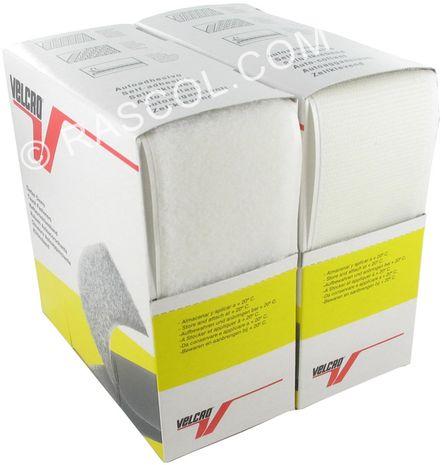 VELCRO® Brand adhésif blanc 50 mm de large boite de 5 mètres