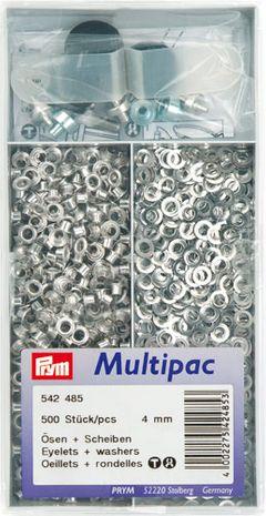 Multipac de 500 oeillets 4mm - Argent