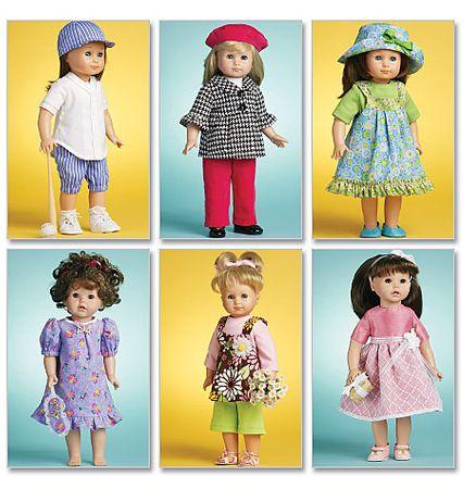Patron d'habits de poupée