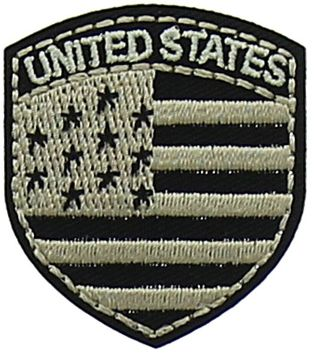 Motif blason noir United States