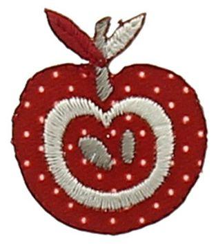Motif pomme bordeaux