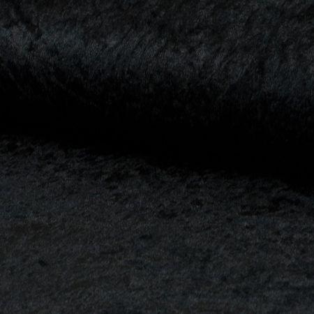 Tissus panne de velours - Noir