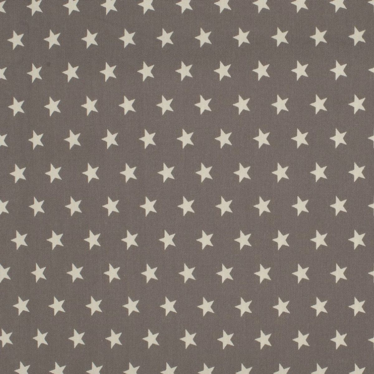 Tissus coton étoiles - Taupe et blanc
