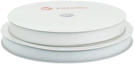 VELCRO® Brand adhésif blanc 25 mm de large rouleau de 25 mètres