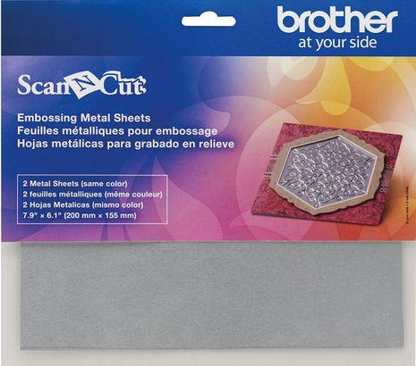 Feuilles métalliques argentées pour l´embossage ScanNCut