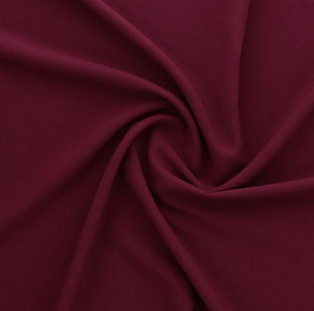 Tissu crêpe viscose - Bordeaux