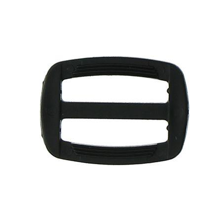 Boucle coulissante plastique noir 25 mm