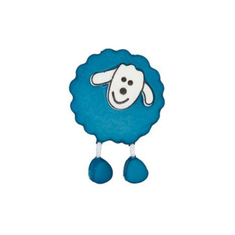 Bouton mouton bleu marine