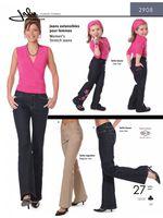 Patron de jeans extensible pour femmes - Jalie 2908