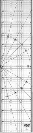 Règle de matelassage Olfa 15 cm x 60 cm