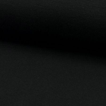 Tissu jersey bord côte - Noir
